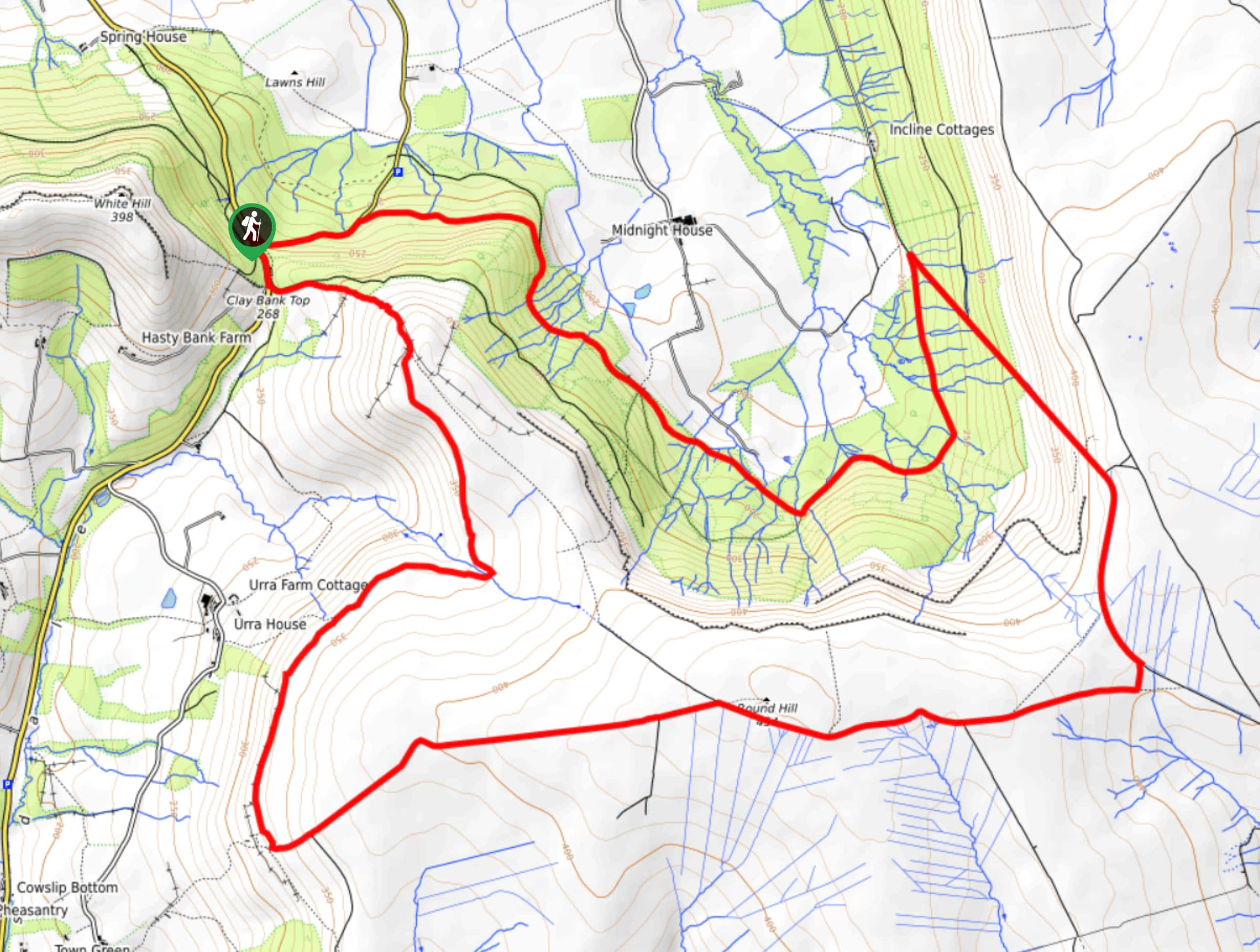 Clay Bank Top and Ingleby Incline Walk Map