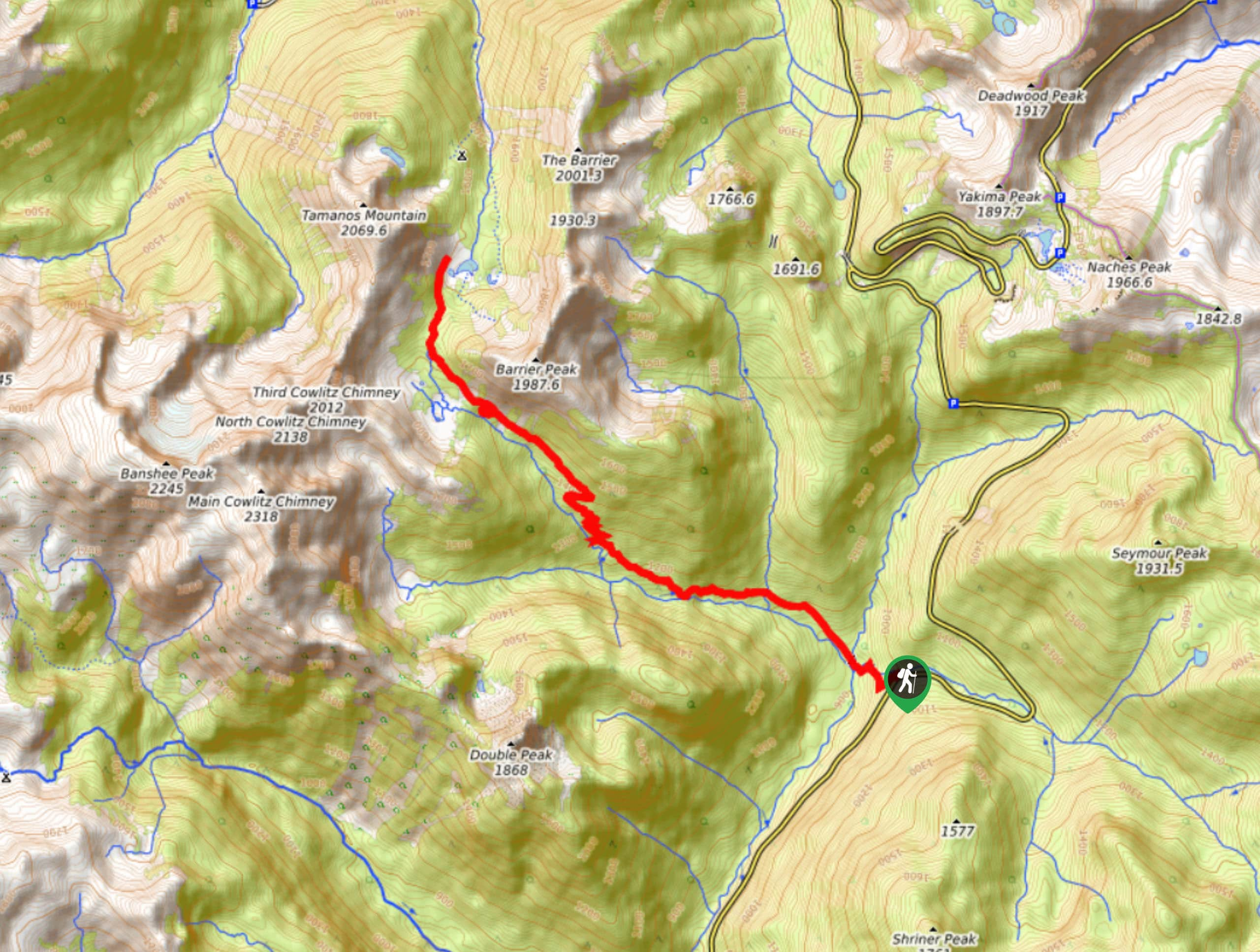 Deer Creek Falls to Owyhigh Lakes Trail Map