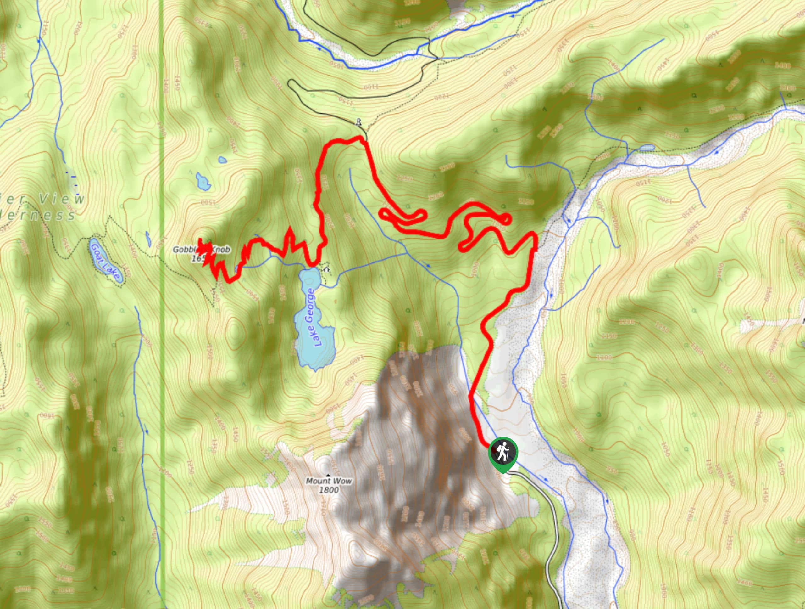 Gobblers Knob Fire Lookout Map